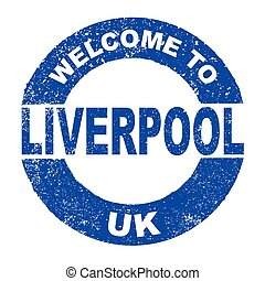 Rubber Ink Stamp Welcome To Liverpool UK
