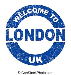 Rubber Ink Stamp Welcome To London UK