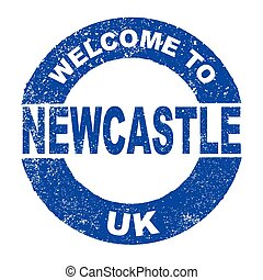 Rubber Ink Stamp Welcome To Newcastle UK