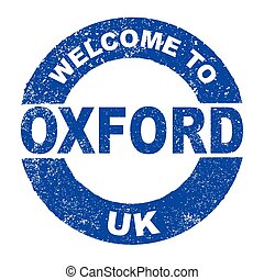 Rubber Ink Stamp Welcome To Oxford UK