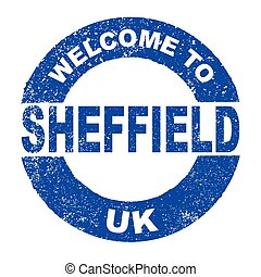 Rubber Ink Stamp Welcome To Sheffield UK