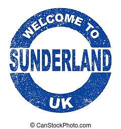 Rubber Ink Stamp Welcome To Sunderland UK