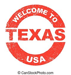Rubber Ink Stamp Welcome To Texas USA