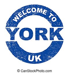 Rubber Ink Stamp Welcome To York UK