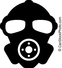 Rubber military respirator vector icon