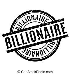 rubber, miljardair, postzegel