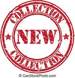 rubber, nieuw, grunge, postzegel, verzameling