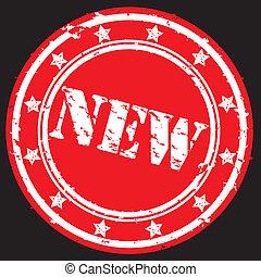 rubber, nieuw, vector, grunge, postzegel
