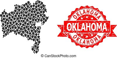 Rubber Oklahoma Stamp Seal and Mark Mosaic Map of Bahia ...
