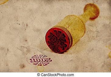 rubber, ouderwetse , postzegel