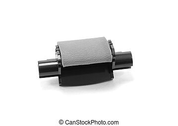 Rubber paper feed roll for copier or printer