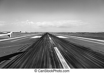 rubber parts at the runway