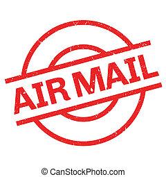 rubber, post, lucht, postzegel