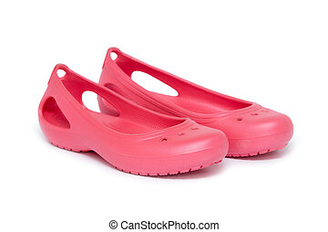 rubber sandals isolated on the white background