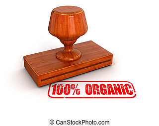 Rubber Stamp 100% Organic