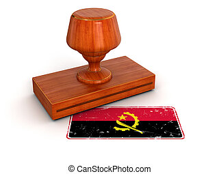 Rubber Stamp Angola flag