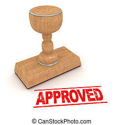 Rubber stamp - approved