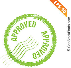Rubber stamp approved - Vector illustration - EPS10