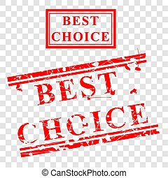 Rubber Stamp - Best Choice - Set 01 02A