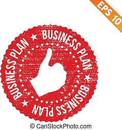 Rubber stamp business plan - Vector illustration - EPS10