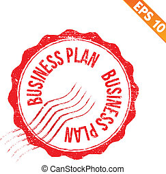 Rubber stamp business plan - Vector illustration - EPS10