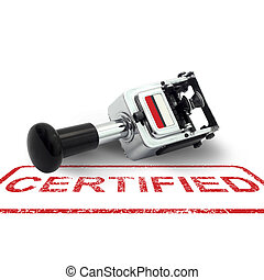 Rubber Stamp CERTIFIED concept on a white background