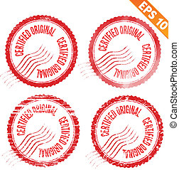Rubber stamp certified - Vector illustration - EPS10