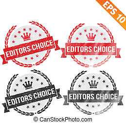 Rubber stamp editor choice - Vector illustration - EPS10