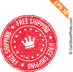 Rubber stamp free shipping - Vector illustration - EPS10