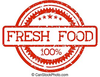 rubber stamp fresh food