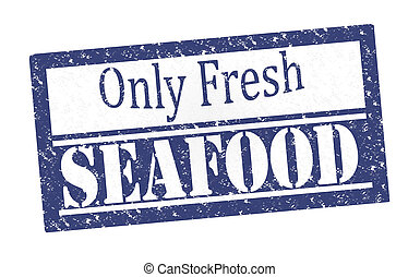 Rubber Stamp Fresh Seafood