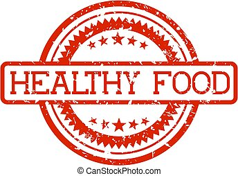 rubber stamp healthy food