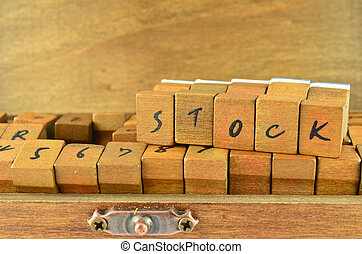 Rubber stamp made by wood