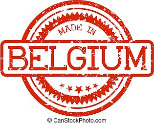 rubber stamp made in belgium