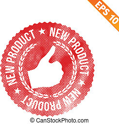 Rubber stamp new product - Vector illustration - EPS10