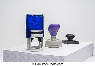 rubber stamp on a white background