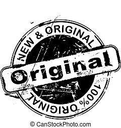 Grunge office rubber stamp with the word original