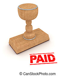Rubber stamp - paid