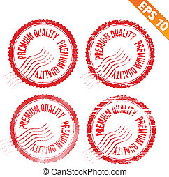 Rubber stamp premium quality - Vector illustration - EPS10