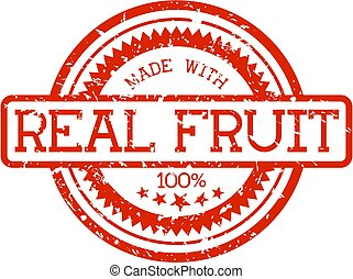 rubber stamp real fruit