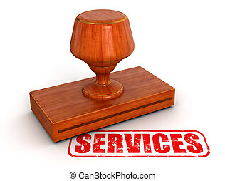 Rubber Stamp services - Rubber Stamp. Image with clipping...