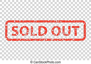 Rubber Stamp - Sold Out - Vector Rubber Stamp - Sold Out