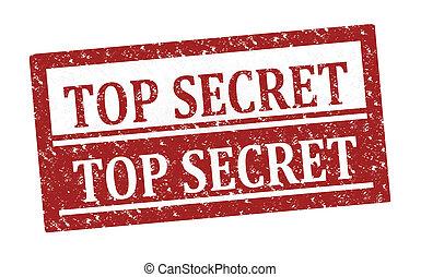 Rubber stamp Top Secret
