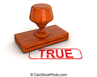 Rubber Stamp true. Image with clipping path