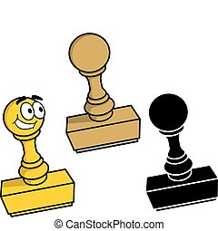 Rubber stamp vector - Rubber stamp in three styles