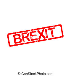 Rubber stamp with text brexit