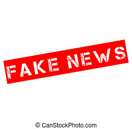 Rubber stamp with text fake news