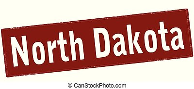 Rubber stamp with text North Dakota inside, vector illustration