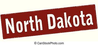 North Dakota - Rubber stamp with text North Dakota inside, ...