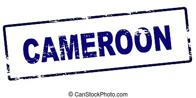 Rubber stamp with word Cameroon inside, vector illustration